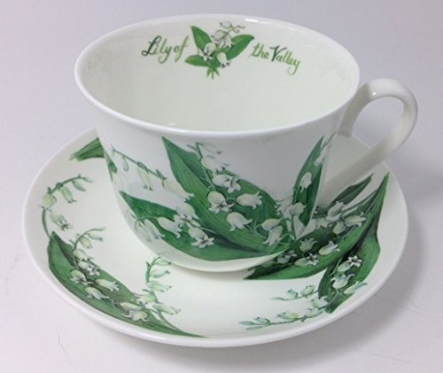 "Roy Kirkham Fine Bone China "" Lilly Of The Valley "" Breakfast Cup & Saucer Set"