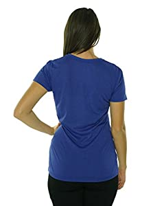 Nike Women's Regular Legend S/S V-Neck - Small - Space Blue