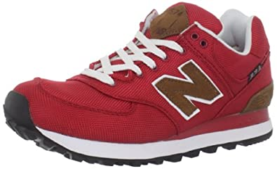 New Balance Men's Ml574 Backpack Fashion Sneaker,Red,7.5 D US