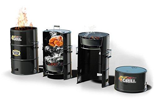 Batavia-4GRILL-BBQ-Fass-4-in-1-Grill-Smoker-Schongarer-Feuersttte