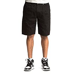 Akoo Men\'s Blackwater Wolfhound Black Denim Shorts (34)
