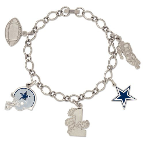 Wincraft Dallas Cowboys Charm Bracelet - Dallas Cowboys One Size at Amazon.com