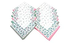 Ladies Handkerchiefs-12 Pcs- 29 CM X 29 CM 100% Cotton Material