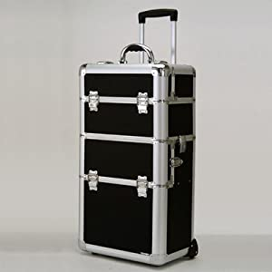 Professional Make-Up Case w Wheels (Black Dot)