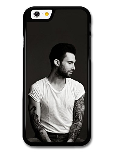 Adam Levine Black and White Portrait Photoshoot Looking Down custodia per iPhone 6 6S