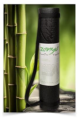 Spüre den Unterschied! Premium Yoga-Matte Zenyo Foam Pro mit Memory-Schaumstoff | Für Wohlfühl-Yoga dank extra-dicker Polsterung | Stabilisiert Asanas und Vinyasas und schont Knie und Gelenke | Perfekt für Anfänger und Fortgeschrittene | Extra lang: