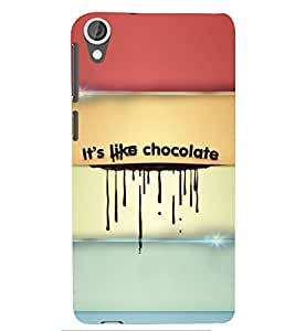 PRINTSWAG CHOCOLATE TEXT Designer Back Cover Case for HTC DESIRE 826
