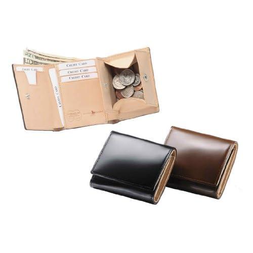 フライングホース コードバン 三つ折り財布 (ブラウン)