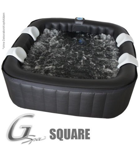 Whirlpool MSpa aufblasbar für 4 Personen 158x158cm In-Outdoor Pool 108 Massagedüsen Timer...