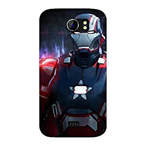 Premium Bluish Redish Man Back Case Cover for Micromax Canvas 2 A110