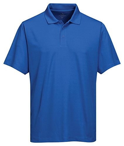 Tri-Mountain Men'S Big And Tall Moisture Wicking Polo Shirt, Royal_4Xlt front-836158
