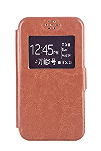 Noise Karbonn Titanium S1 Universal Flip Cover  4 4.5 inch  Brown available at Amazon for Rs.499