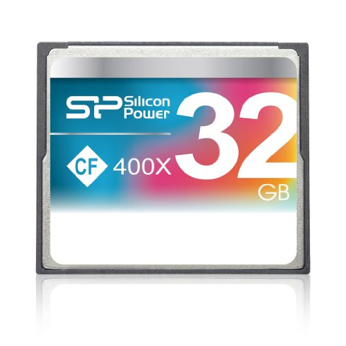 Silicon Power 32GB Hi Speed 400x Compact Flash Card (SP032GBCFC400V10)