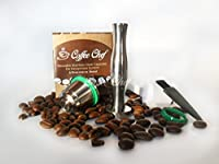 Coffee Chef Barista Set with Refillable Reusable Nespresso Capsule Stainless Steel German Engineered.