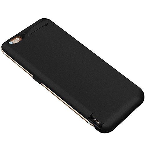 ZDTech バッテリーケース iPhone 6 / 6s 4.7インチ用 容量 7000mAh 120% バッテリー容量を追加 (ブラック)