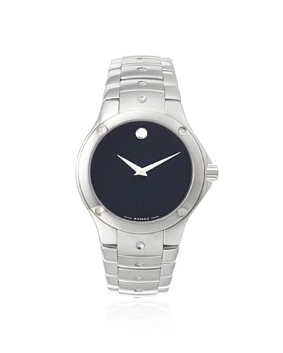Movado Men's 605788 S.E. Silver/Black Stainless Steel Watch