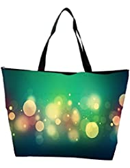 Snoogg Abstract Colorful Bubbles Designer Waterproof Bag Made Of High Strength Nylon