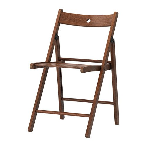 Solid Wood Folding Chairs, Indoor Outdoor Folding Chair Seating, Color: Brown