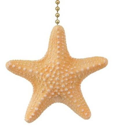 Armoured Starfish Ceiling Fan Pull or Light Pull Chain Clementine Design