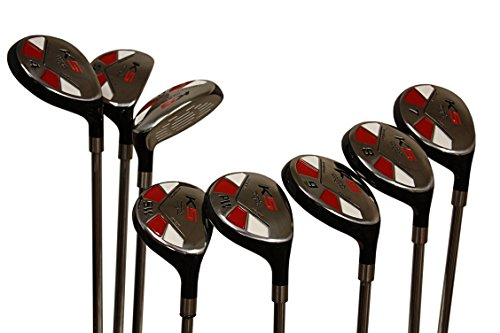 Senior Ladies Golf Clubs All Hybrid Set 55+ Years Womens Right Hand Majek Lady Full True Hybrid Complete Rescue Set which Includes: #3, 4, 5, 6, 7, 8, 9, PW. Lady Flex Right Handed New Easy Oversized OS L Utility Lady Flex Club