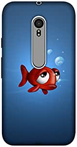 The Racoon Lean printed designer hard back mobile phone case cover for Motorola Moto G 3rd Gen. (fish with)