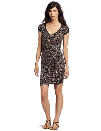 D.E.P.T. Women's Mini Flower Dress, Black, Small