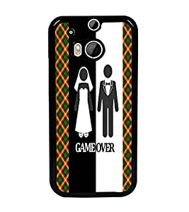 PrintDhaba Couple D-3991 Back Case Cover for HTC ONE M8s (Multi-Coloured)