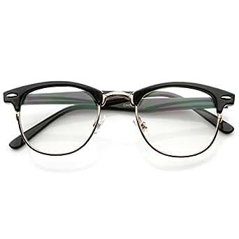 Amazon.com: MalcolmxHorn Rimmed Glasses Frames Black ...