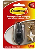 Command Forever Classic Metal Hook, Oil Rubbed Bronze, Small