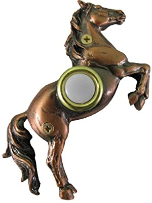Company's Coming DBZ-028 Horse Bronze Doorbell Cover