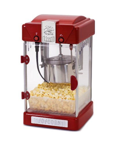Elite Deluxe EPM-350 Maxi-Matic 2.5 Ounce Classic Tabletop Popcorn Popper Machine with Accessories, Red (Hot Oil Popcorn Machine compare prices)