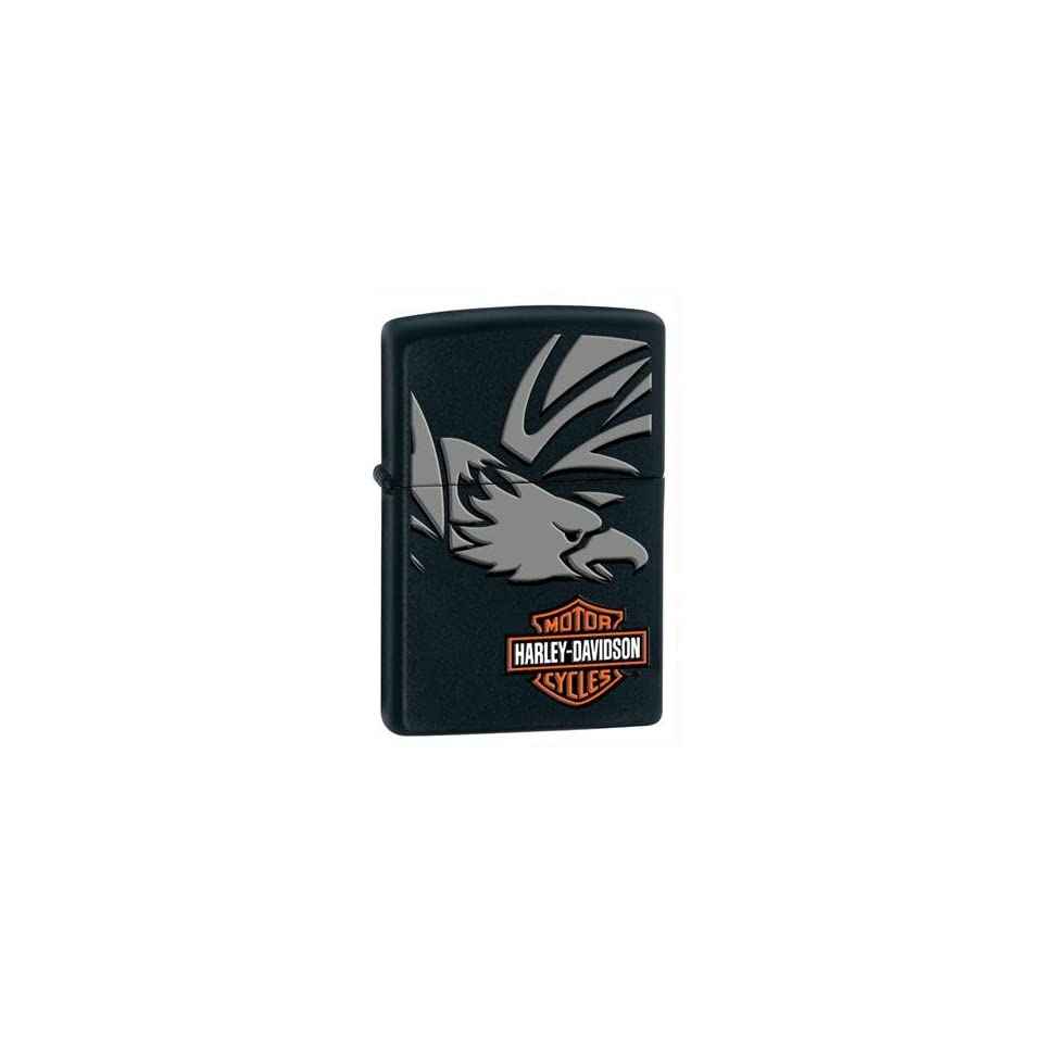 Zippo Harley Davidson Eagle Lighter (Black, 5 1/2 x 3 1/2 cm)