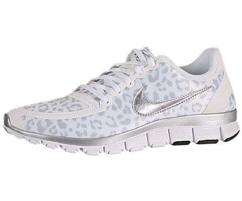 Nike Free 5.0 V4 Para Mujer Papel Blanco Leopardo línea barata descuentos de salida Y0b1Y