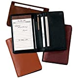 Royce Leather Deluxe Note Jotter Organizer - Black