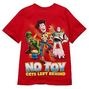 Disney Organic ''No Toy Gets Left Behind'' Toy Story Tee for Boys