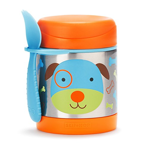 Skip Hop Baby Zoo Little Kid and Toddler Insulated Food Jar and Spork Set, Multi, Darby Dog (Kids In A Jar compare prices)