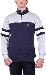 UCC Men's Fleece Regular Fit Sweatshirts (UCC6031NAVYGREY-XXL)