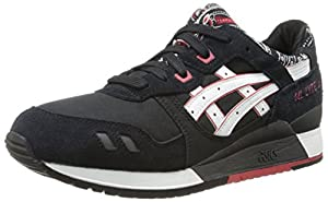 ASICS Men's Gel-Lyte III Fashion Sneaker,Black/White,11 M US