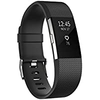 Fitbit Charge 2 Heart Rate & Fitness Tracker Wristband (Large & Small in Black or Blue)