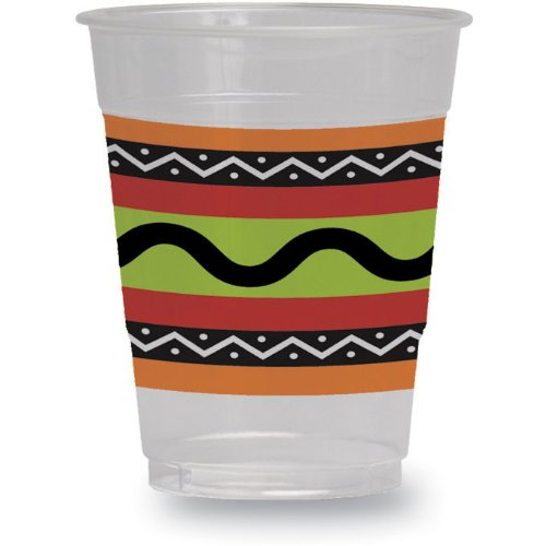Fiesta Stripes 16 oz. Plastic Cups