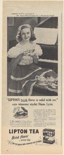 1946 Diana Lynn Lipton Tea Brisk Flavor Photo Print Ad (Memorabilia) (58931)