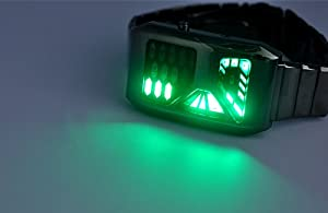 TechAffect Futuristic Space Fan LED watch with 28 green LEDs