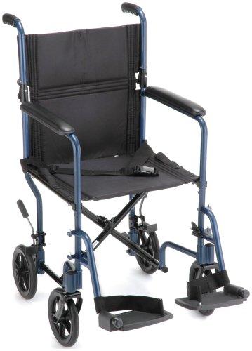 NOVA Medical Products 329 Lightweight Transport Chair, 19″, Blue