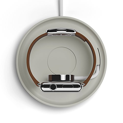 【正規代理店品】Bluelounge Apple Watch用シリコン製充電コースター Kosta ライトグレー BLD-KOSTA-LGY