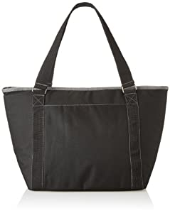 Picnic Time Topanga Insulated Cooler Tote, Black