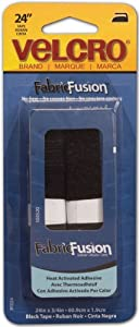 "New - VELCRO(R) brand Fabric Fusion Tape 3/4""X24""-Black by Velcro(r) Brand Fasteners"