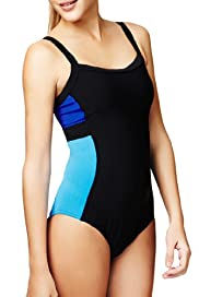 Tummy Control Sporty Colour Block Swimsuit [T52-5112-S]