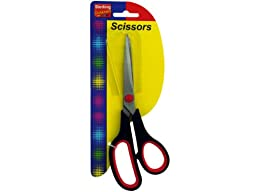 Stainless steel scissors with plastic handle (Available in a pack of 12)