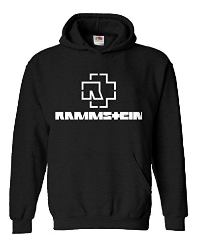 "Felpa Unisex ""Rammstein"" - Felpa con cappuccio rock metal LaMAGLIERIA, L, Nero"