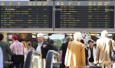 "Wallmonkeys Peel and Stick Wall Graphic - Airport Flight Schedule Dep - 18""W x 11""H"